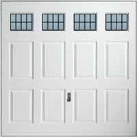 Hormann Series 2000 GRP up and over garage doors Style 2041 Coniston with windows